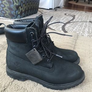 Women's black Timberland boots